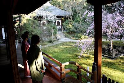 Japanese garden kimono