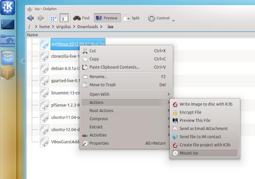 Simple Mount ISO - KDE