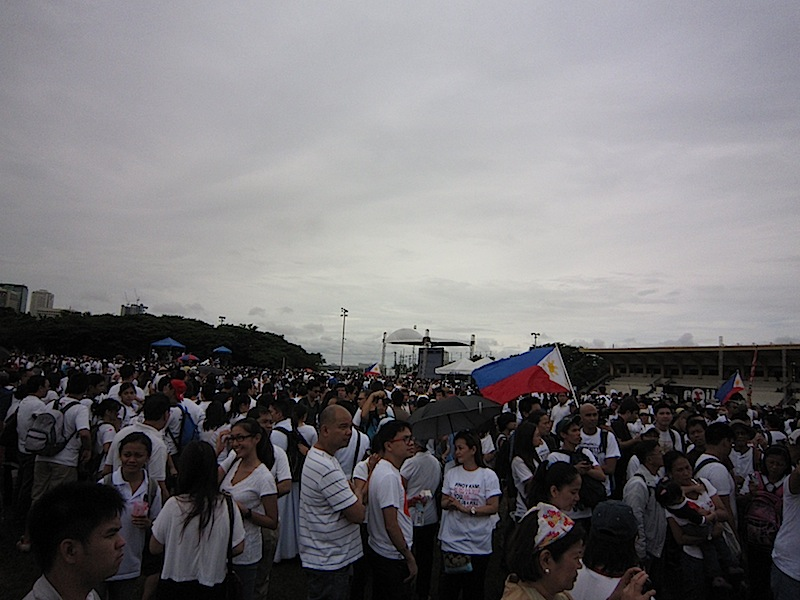 at the Million People March in Luneta