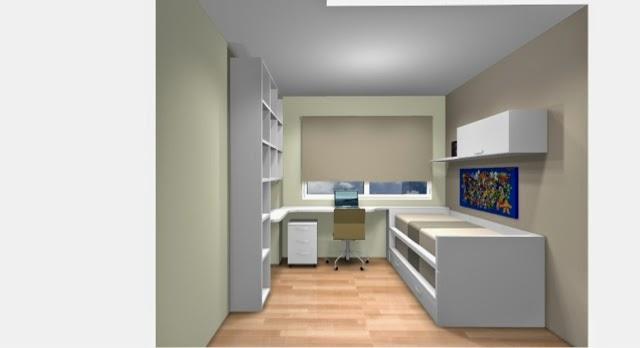dibujo de dormitorio juvenil blanco