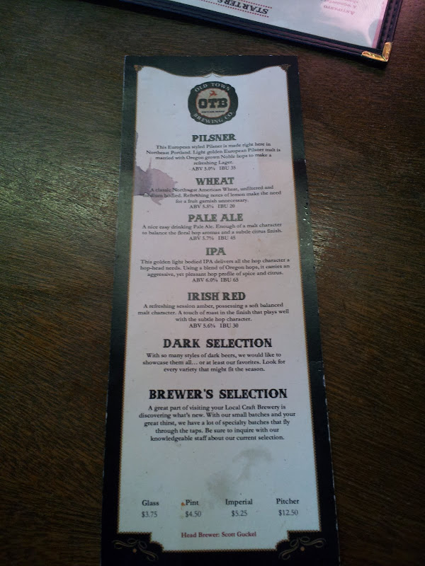 Always a good sign when the beer menu has beer spilled on it.