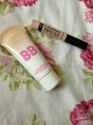Maybelline's BB cream and collection's lasting perfection concealer