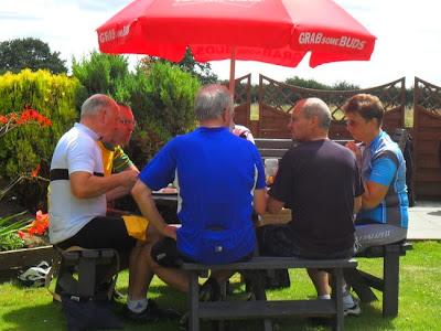 in pub garden