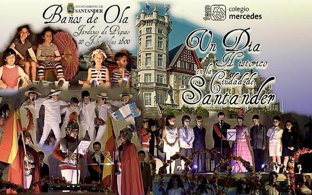 Santander celebra los Baños de Ola con el Colegio Mercedes