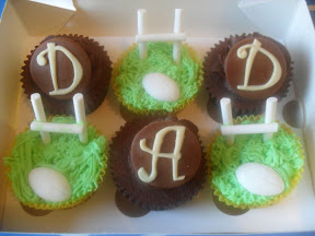 Football and Rugby Cupcake
