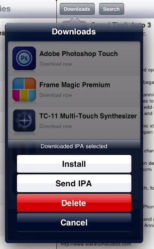application ouvrir ficher exe sur ipad