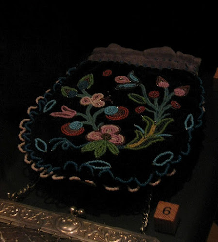 Floral Bead Embroidered Pouch