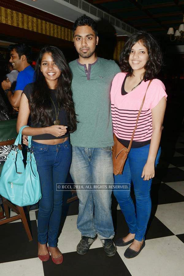 Sashu, Sushant and Vibha during a party, held at 10 Downing Street, in Chennai.