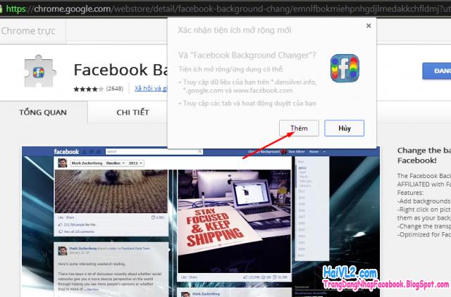 đổi giao diện trang facebook nhanh