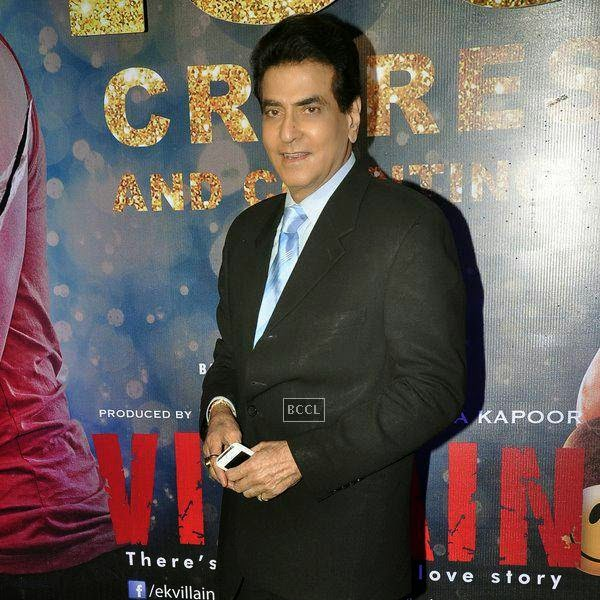 Jeetendra at the success party of Bollywood movie 'Ek Villain', held at Ekta Kapoor's residence on July 15, 2014.(Pic: Viral Bhayani)