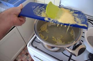 Spaetzle à l'alsacienne cuisson