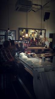 Indoor bar and seatings at Chye Seng Huat Hardware