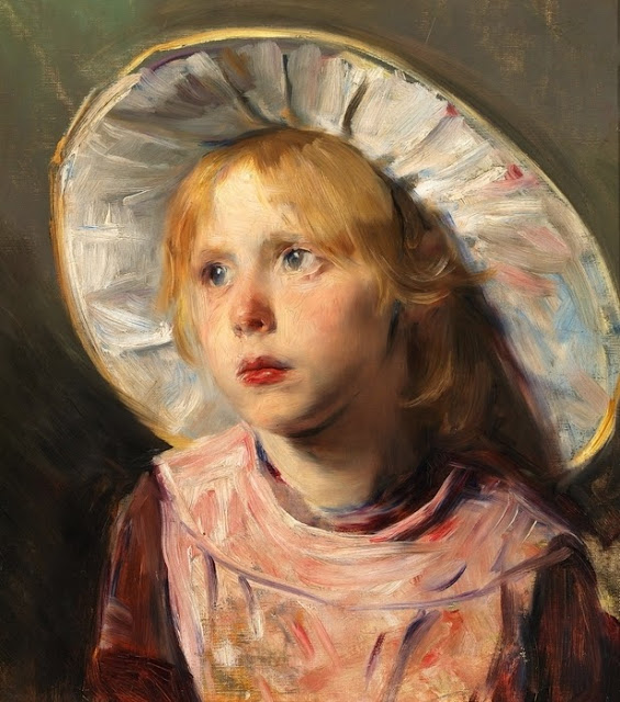 Bertha Wegmann - Portrait Of A Young Girl