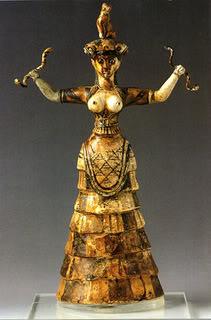 Snake Goddess Of Crete Image