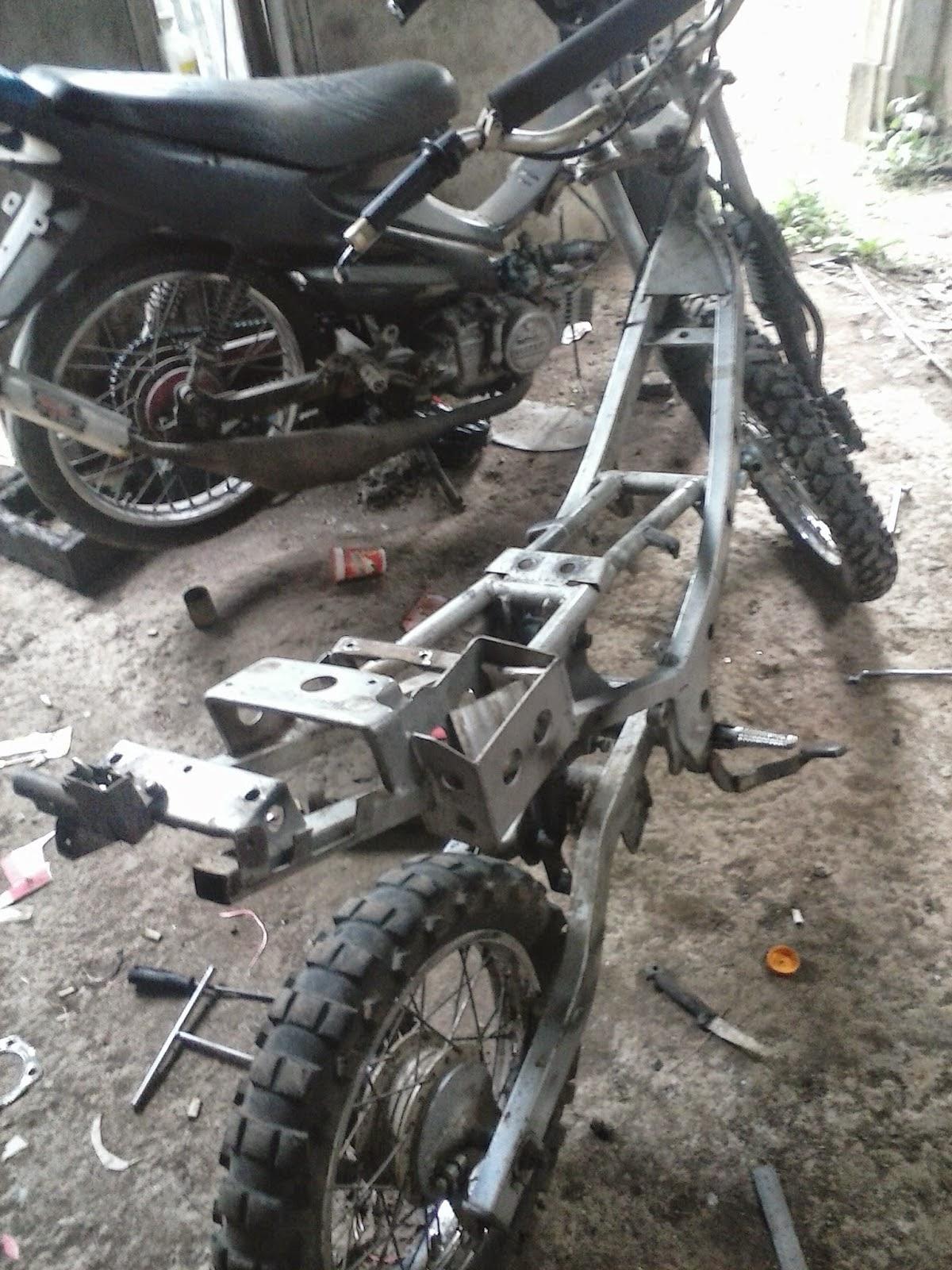 Modifikasi Trail Suzuki Satria 120 R