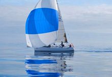 J/109 sailing the classic light air Swiftsure
