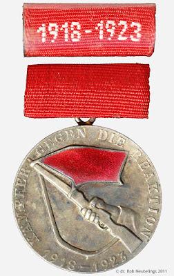 164a Medaille für Teilnahme an den bewaffneten Kämpfen der deutschen Arbeiterklasse in den Jahren 1918 - 1923 www.ddrmedailles.nl