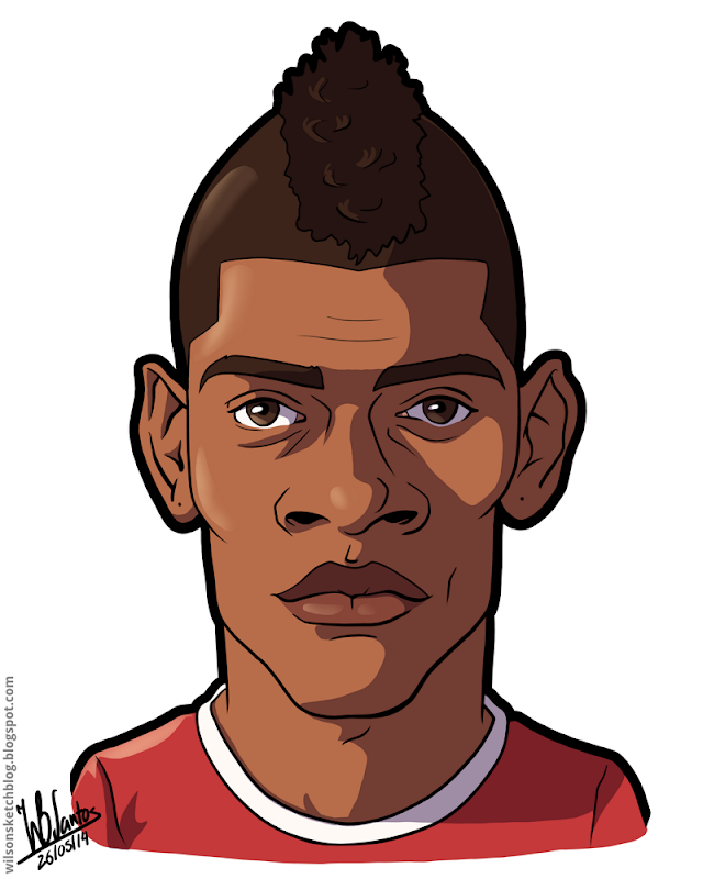 Cartoon caricature of Ivan Cavaleiro.