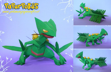 Pokemon Sceptile Papercraft