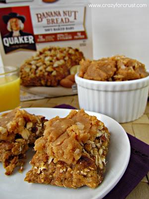 Peanut Butter Coconut Spread (Quaker Soft Baked Bars) in a white ramekin