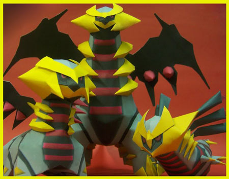 Pokemon Giratina Papercraft