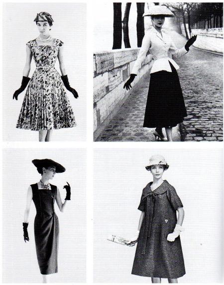 Cest en 1947 que Christian Dior relance la mode en instaurant le New Look  ligne ample, taille fine et hanches marquées.
