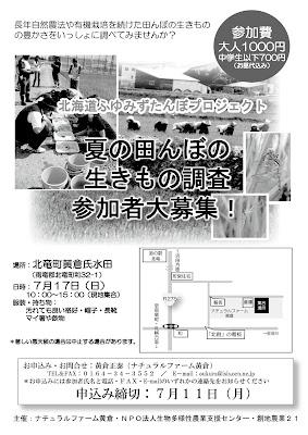 夏の田んぼの生きもの調査2011年7月17日