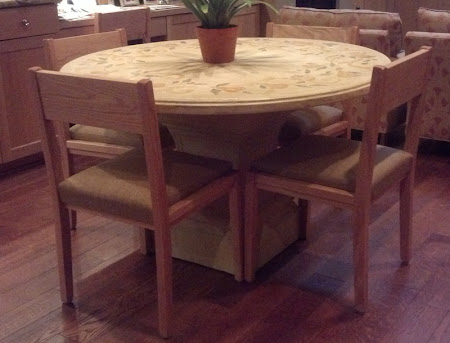 Modern Delton Chairs in Natural Oak with Padded Seats