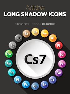 Freebie Release: Adobe Long Shadow Icon Set