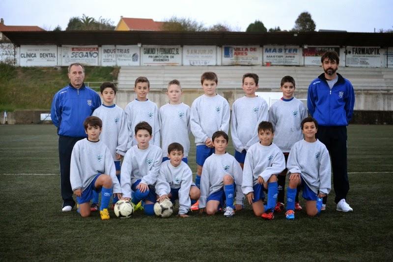 Equipo alevín do Eume Deportivo (07/11/2014)