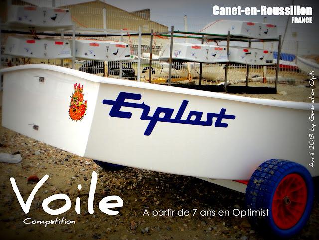 voile optimist compétition Canet-en-Roussillon bateaux