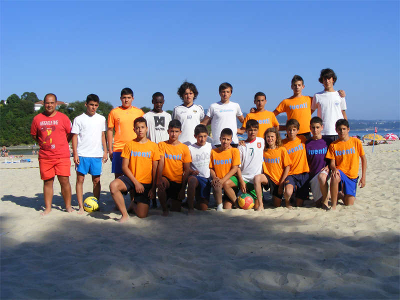 Torneo de Fútbol Playa Ares 2012. Semifinal Infantil. Fantoches - Naranja Mecánica