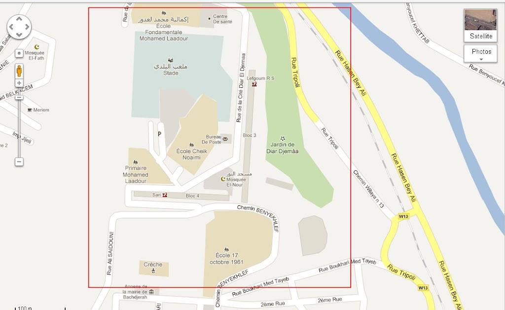 Mapping Algiers - Cartographie de la région d'Alger. رسم خريطة العاصمة El-harrach