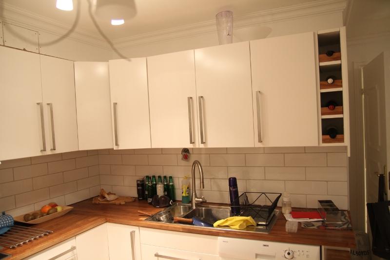 Second hand IKEA faktum cabinet into wine rack   Mauricio Munera.
