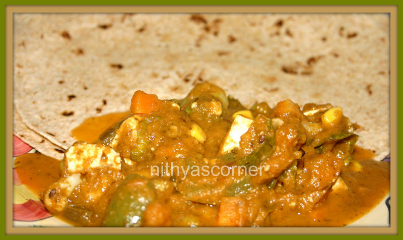 Paneer Vegetable Mint Curry
