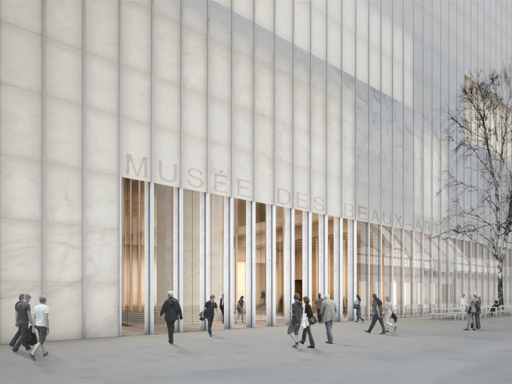 Musée des Beaux-arts design by  David Chipperfield Architects