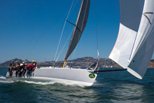 J/125 Double Trouble sailing Rolex Big Boat series