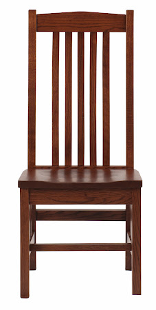 Raised Mission Chair in Rustic Oak