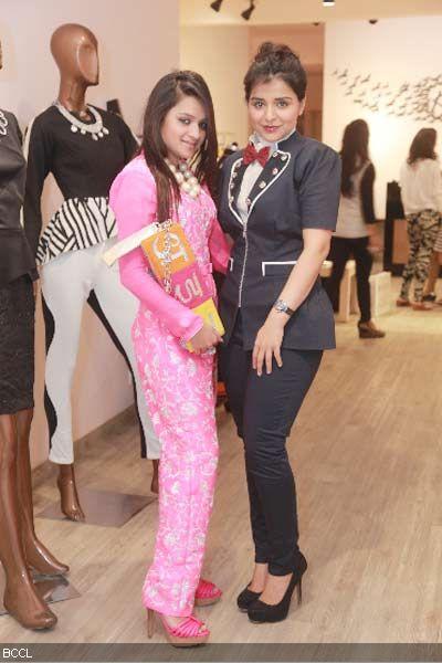 Fashion designer Kanika Jain and jewellery designer Musskan Agarwal during the former's new collection launch at 114 Shahpur Jat, Delhi.
