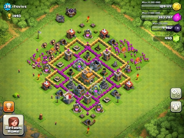 Top Gaming Tips Clash Of Clans Level 7 Town Hall Defence Strategy