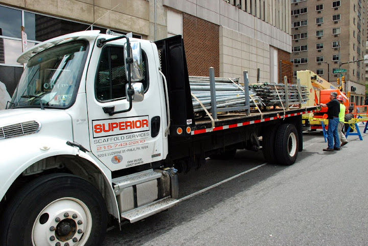 superior scaffold, crew, emergency, equipment, scaffolding, rent, rental, rents, masonry facade, 215 743-2200