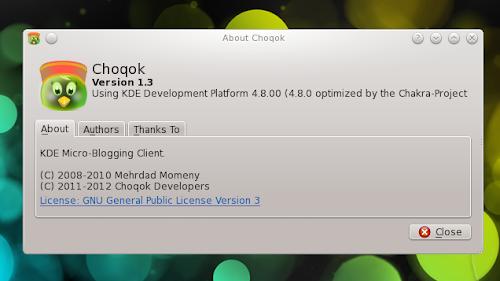 Choqok 1.3