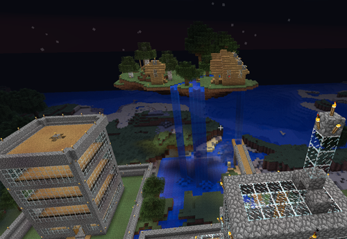 minecraft floating island