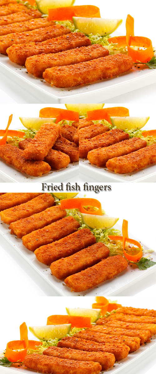 Stock Photo: Fried fish fingers
