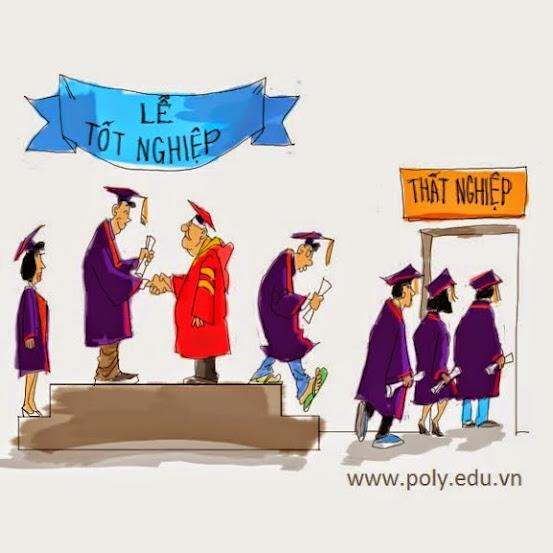 Trong quý I năm 2014, cả nước có hơn 162.000 cử nhân, thạc sĩ thất nghiệp. Nguồn ảnh: Cao đẳng thực hành FPT Polytechnic.