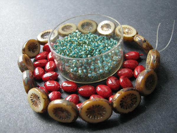Log Cabin Christmas Bead Idea