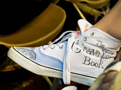 The Graveyard Book shoes at London Ya Lit Con (YALC)