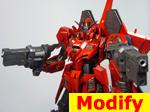 Karaba MSZ-006-P2/3C Zeta Gundam P2/3C Type Red Zeta
