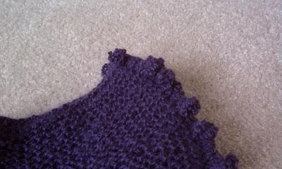 Eggplant Ascot Detail Closeup