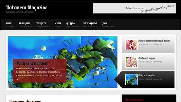 Habanera Magazine Blogger Template